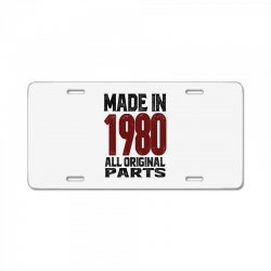Made in 1980 License Plate | Artistshot