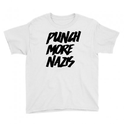Punch More Nazis Black Youth Tee Designed By Shadowart
