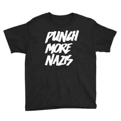 Punch More Nazis White Youth Tee Designed By Shadowart