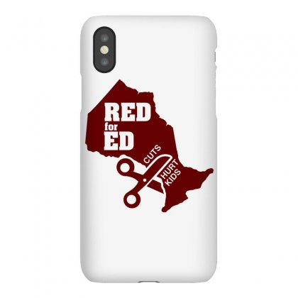 Red For Ed Ontario Cuts Hurt Kids Iphonex Case Designed By Shadowart