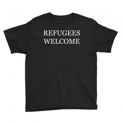 Refugees Welcome Youth Tee Designed By Shadowart