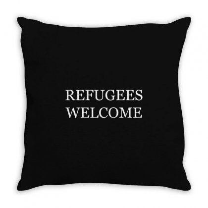 Refugees Welcome Throw Pillow Designed By Shadowart