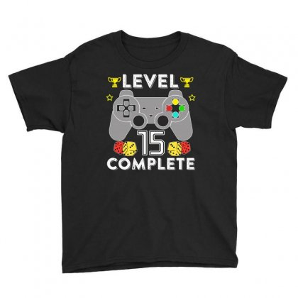 Level 15 Complete T Shirt Youth Tee Designed By Hung