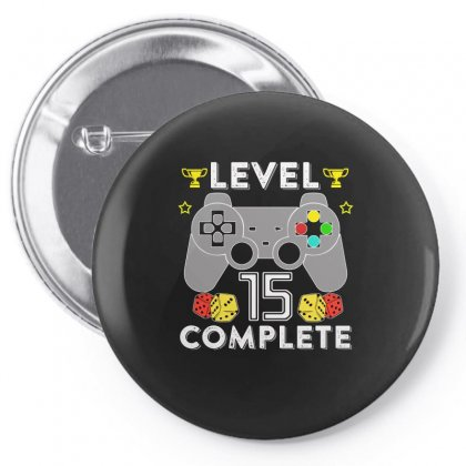 Level 15 Complete T Shirt Pin-back Button Designed By Hung