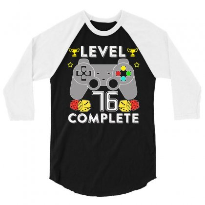 Level 76 Complete 3/4 Sleeve Shirt Designed By Hung