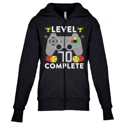 Level 70 Complete Youth Zipper Hoodie Designed By Hung