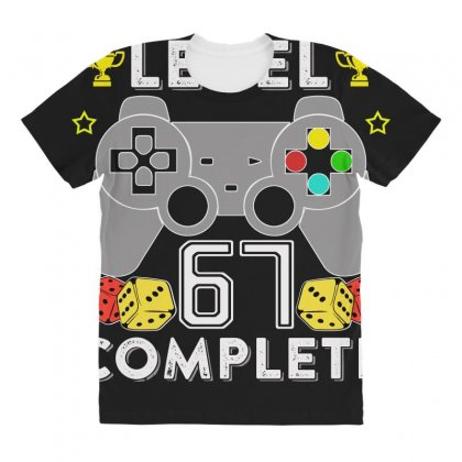 Level 67 Complete All Over Women's T-shirt Designed By Hung