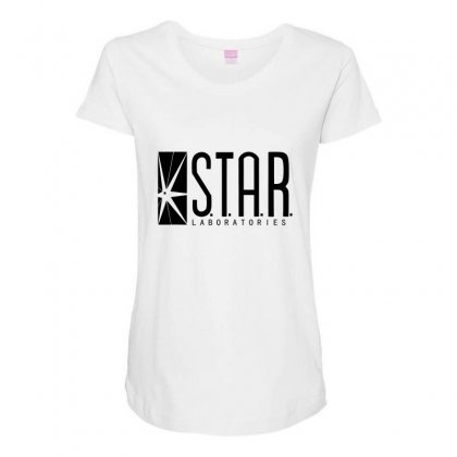 Star Lab Maternity Scoop Neck T-shirt Designed By Shadowart