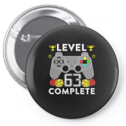 Level 63 Complete T Shirt Pin-back Button Designed By Hung