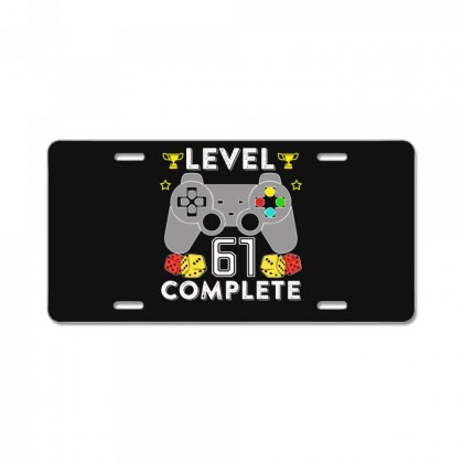 Level 61 Complete T Shirt License Plate Designed By Hung