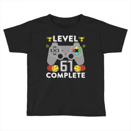 Level 61 Complete T Shirt Toddler T-shirt Designed By Hung
