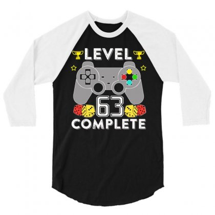 Level 63 Complete T Shirt 3/4 Sleeve Shirt Designed By Hung