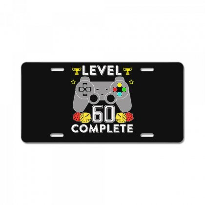 Level 60 Complete T Shirt License Plate Designed By Hung