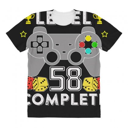 Level 58 Complete T Shirt All Over Women's T-shirt Designed By Hung