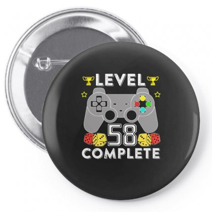 Level 58 Complete T Shirt Pin-back Button Designed By Hung