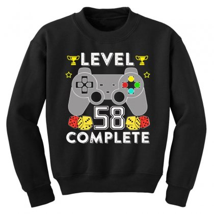 Level 58 Complete T Shirt Youth Sweatshirt Designed By Hung