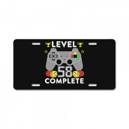 Level 58 Complete T Shirt License Plate Designed By Hung