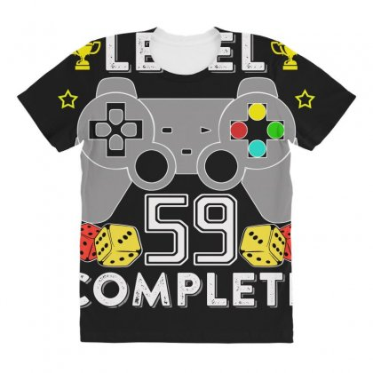 Level 59 Complete T Shirt All Over Women's T-shirt Designed By Hung