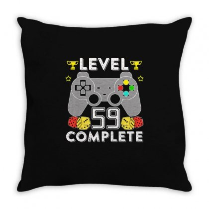 Level 59 Complete T Shirt Throw Pillow Designed By Hung