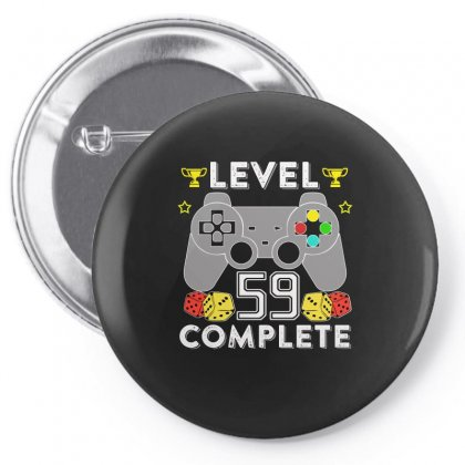 Level 59 Complete T Shirt Pin-back Button Designed By Hung