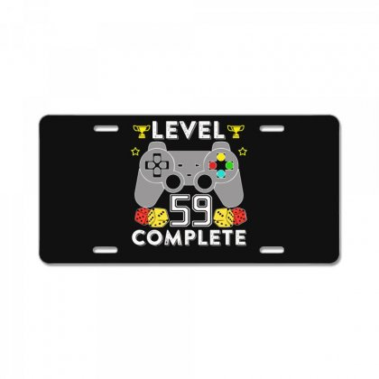Level 59 Complete T Shirt License Plate Designed By Hung