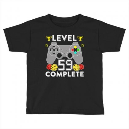 Level 59 Complete T Shirt Toddler T-shirt Designed By Hung