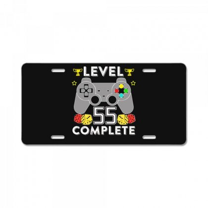 Level 55 Complete T Shirt License Plate Designed By Hung