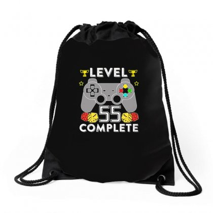 Level 55 Complete T Shirt Drawstring Bags Designed By Hung