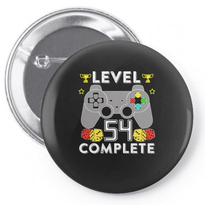 Level 54 Complete T Shirt Pin-back Button Designed By Hung