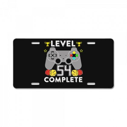 Level 54 Complete T Shirt License Plate Designed By Hung