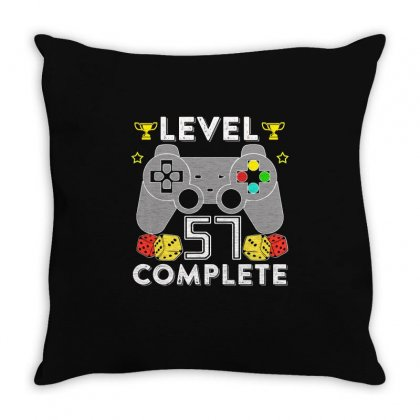 Level 57 Complete T Shirt Throw Pillow Designed By Hung