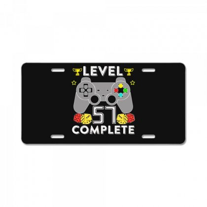 Level 57 Complete T Shirt License Plate Designed By Hung