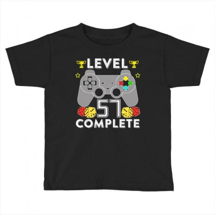 Level 57 Complete T Shirt Toddler T-shirt Designed By Hung