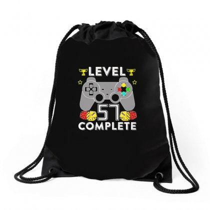 Level 57 Complete T Shirt Drawstring Bags Designed By Hung