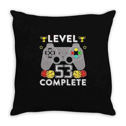 Level 53 Complete T Shirt Throw Pillow Designed By Hung