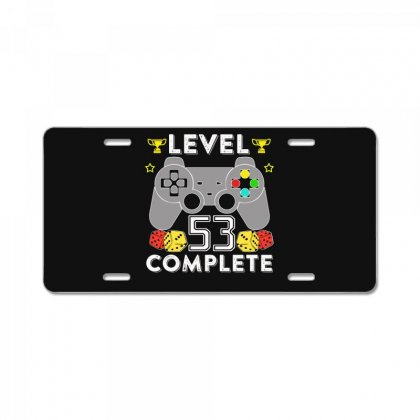 Level 53 Complete T Shirt License Plate Designed By Hung