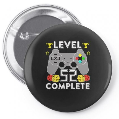 Level 52 Complete T Shirt Pin-back Button Designed By Hung