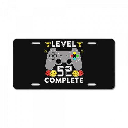 Level 52 Complete T Shirt License Plate Designed By Hung