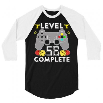 Level 58 Complete T Shirt 3/4 Sleeve Shirt Designed By Hung