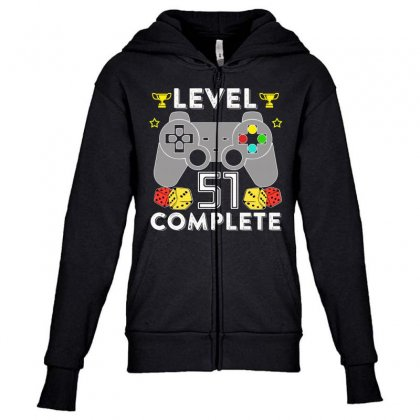 Level 51 Complete Youth Zipper Hoodie Designed By Hung