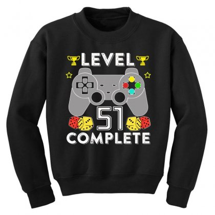 Level 51 Complete Youth Sweatshirt Designed By Hung