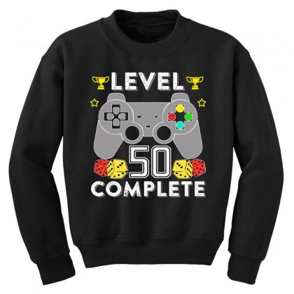 Level 50 Complete Youth Sweatshirt Designed By Hung