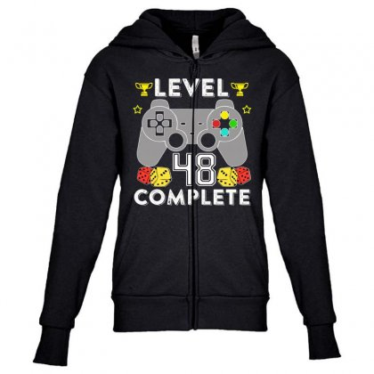 Level 48 Complete Youth Zipper Hoodie Designed By Hung