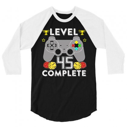 Level 45 Complete 3/4 Sleeve Shirt Designed By Hung