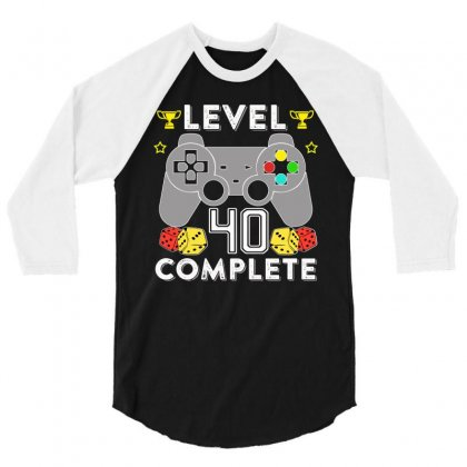 Level 40 Complete 3/4 Sleeve Shirt Designed By Hung