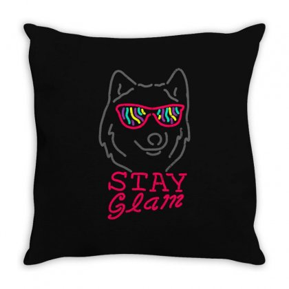 Stay Glam Throw Pillow Designed By Shadowart