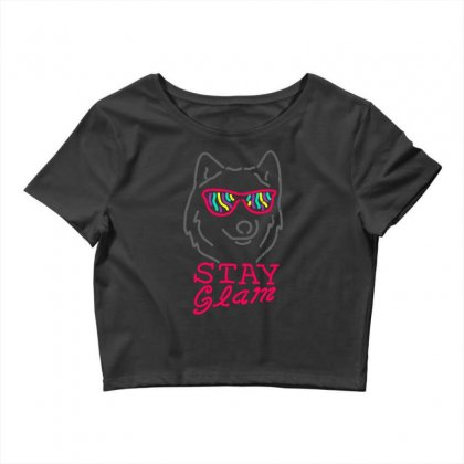 Stay Glam Crop Top Designed By Shadowart