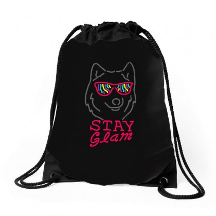 Stay Glam Drawstring Bags Designed By Shadowart