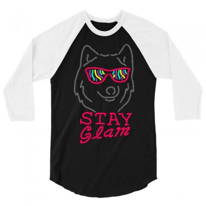 Stay Glam 3/4 Sleeve Shirt Designed By Shadowart