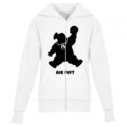 Stay Puft Air Puft Youth Zipper Hoodie Designed By Shadowart